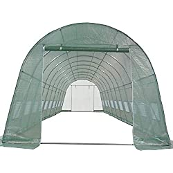 DELTA Canopies Greenhouse 33'x13'x7.5' - Large Heavy Duty Green House Walk in Hothouse 185 Pounds By