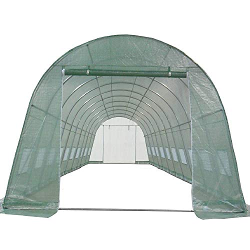 DELTA Canopies Greenhouse 33'x13'x7.5′ – Large Heavy Duty Green House Walk in Hothouse 185 Pounds By
