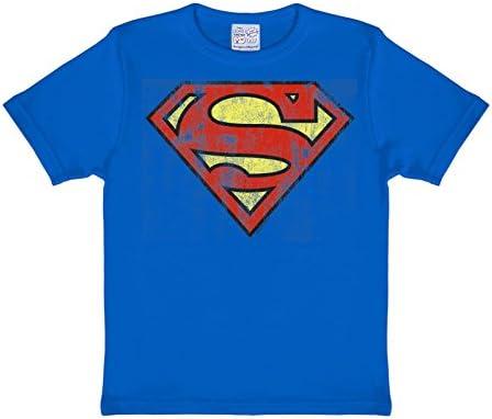 Superman Fresca del Logotipo del cómic Camiseta, de Color Azul Oscuro, Forma y Color-rápida: Amazon.es: Ropa y accesorios