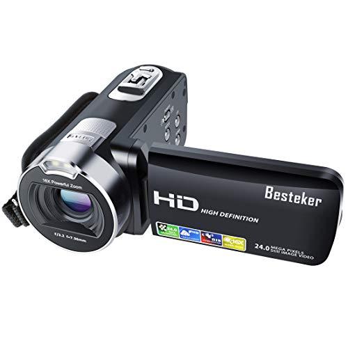 Camera Camcorder, Besteker 1080P Recorder 24M 16X HD Digital