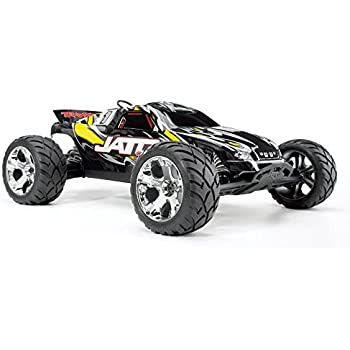 Traxxas Jato 3.3: 1/10 Scale Nitro-Powered 2WD Stadium Truck with TQi 2.4GHz Radio and TSM, Yellow