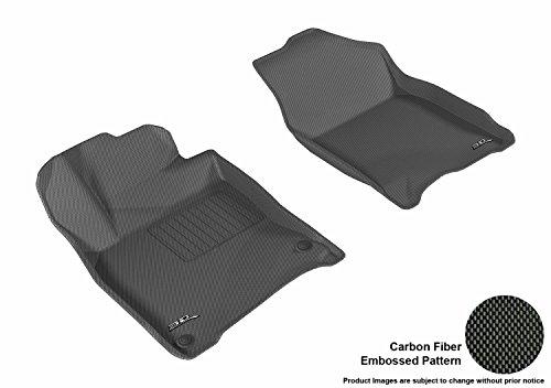3D MAXpider L1HD07411509 All-Weather Mat (Custom Fit Black Kagu Rubber Front Row for Select Honda Civic Coupe/Sedan Models)