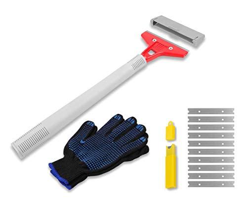 Wadason Razor Blade Scraper Tool with Long Handle Heavy Duty Razor Scraper for Stove Windows Wood Glass Paint Scraper Tool ()