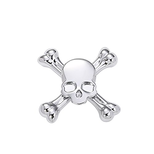 (Starss Skull Fidget Spinner with Ultra Stainless Steel Bearing 3-5Min Spins Time Quality Stress Reducer Toy for ADHD Toy for Kids)