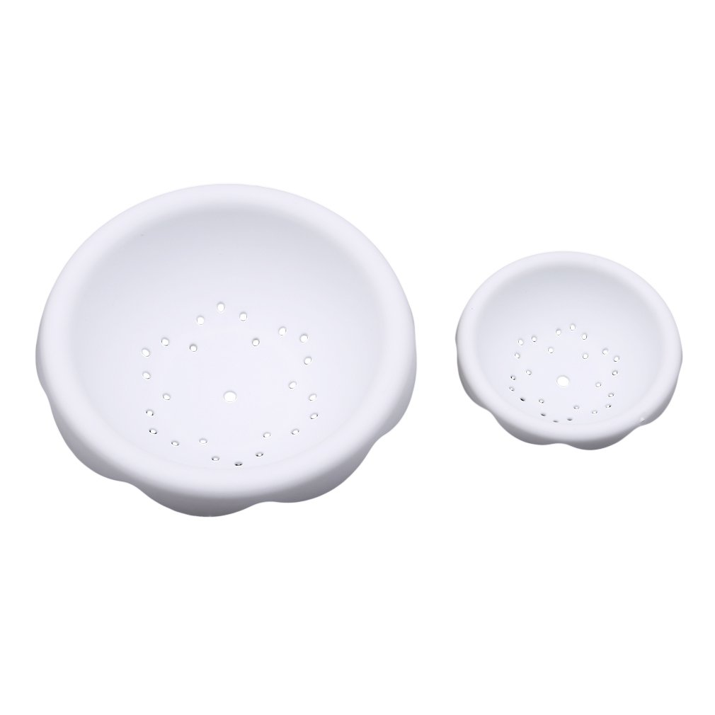 TraveT 2 Pcs/Set Bowl Shapes Fondant Forming Cups Flower Drying Moulds Flower Cup Holder Tools