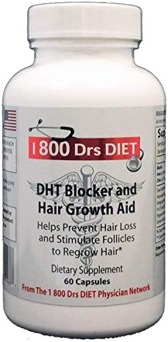DHT Blocker and Hair Growth Aid - Naturopathic Formula for Longer, Stronger, Healthier Hair - Scientifically Formulated with Biotin, Saw Palmetto, Fo-Ti Root and More ()