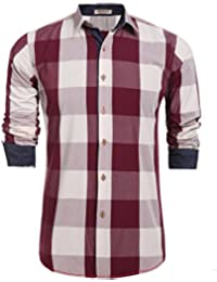 "<span class=""a-offscreen"">[Sponsored]</span>Men's Plaid Long Sleeve Casual Slim Fit Button Down Shirts"