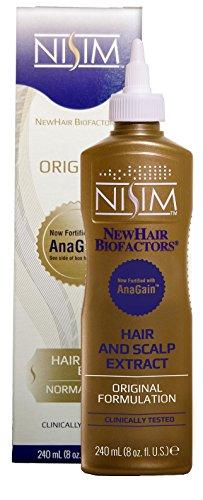 Nisim Anregung des Haarwachstums NewHair Biofactors Extrakt original 240ml, Hair & Scalp Extract Original, Tonikum, Serum, Anti Haarausfall