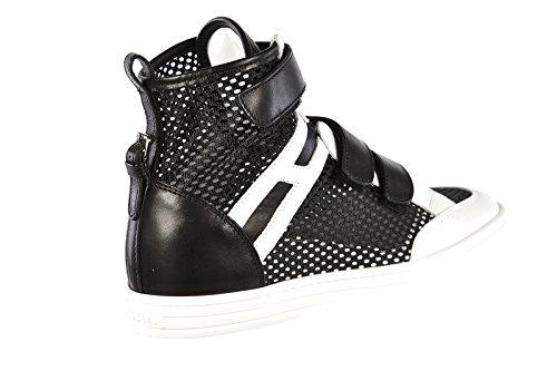 Hogan Damenschuhe Damen Leder Schuhe High Sneakers rebel r182 Schwarz EU 37 HXW1820N6405Z43635
