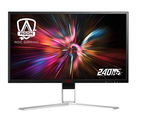 "AOC Agon AG251FZ2 25"" Gaming Monitor, Full HD 1920x1080, Freesync, 240Hz, 0.5ms, Quickswitch Keypad, Ergonomic Stand, 4-Yr Zero Bright Dot Guarantee (Renewed)"