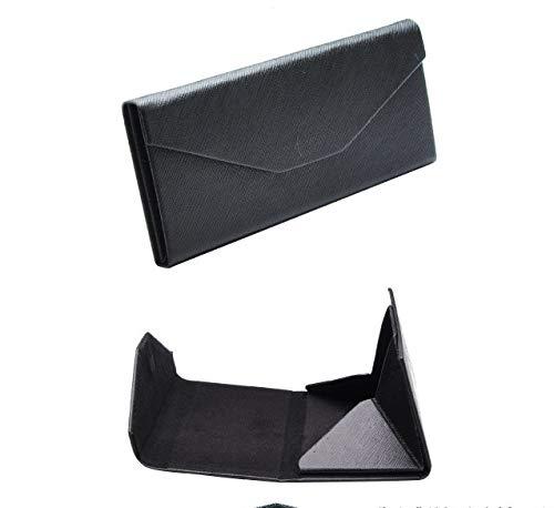 Qilegn retro triangolo degli occhiali da sole custodia rigida scatola occhiali della porta nero