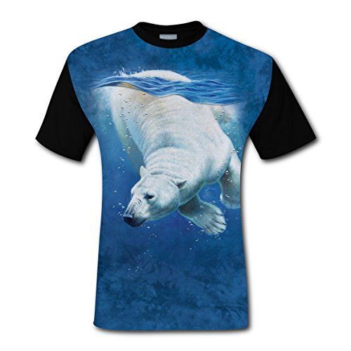 O-Neck New Cute Shirts 3D Create My Own With Polar Bear For Men - My Style What Suits Personality
