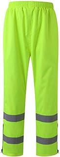 Yhjklm Respirant Pantalon imperméable de Pluie, Costume réfléchissant de Pantalon de sécurité pour l'activité extérieure de Travail