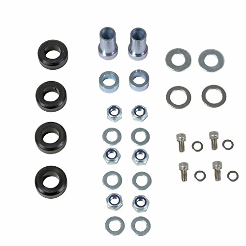 BBK Performance Parts 25252 Alignment Caster/Camber Hardware Kit For Caster Camber Plates PN[2525] Incl. Bracket/Flange/Nuts/Washers/Bushings Alignment Caster/Camber Hardware Kit
