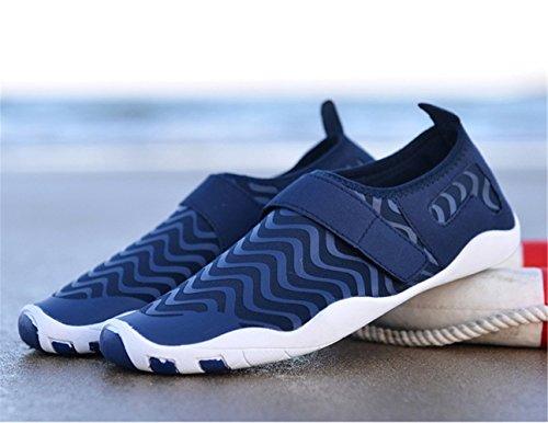 Aquaschuhe Unisex Weiche Frauen Blau Schuhe Schwimmschuhe Rutschfest Wasserschuhe Badeschuhe Leicht Atmungsaktiv Für mogeek Männer 65nXaFqdF