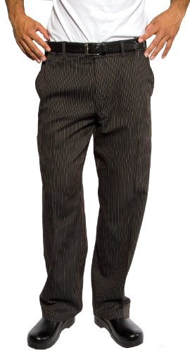 Executive Chef Pants (Chef Works PSER-SPS Spice Stripe Professional Series, Pants, Size L)
