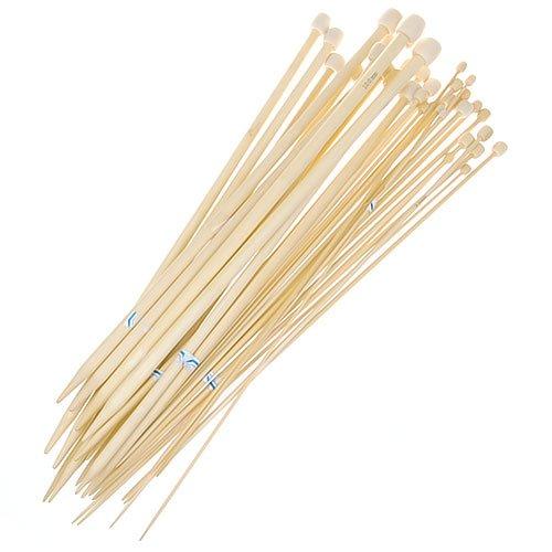 18 Größen 36 cm Stricknadeln aus Bambus Single Punkt Größen 2,0-10.0mm