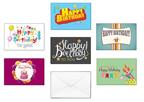 Premium Token - Creanoso Children Birthday Note Cards (12-Pack) – Premium Quality Set – Greetings Gift Card Set Tokens for Boys, Girls, Teens, Kids, Men, Women – Six Design Card Pack