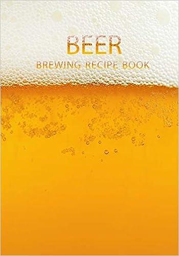 amazon beer brewing recipe book blank book beer logbook brewing