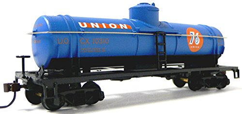 HO Scale Union 76 40' Tanker Car for Model Railroad Train...