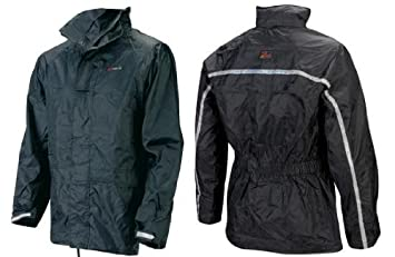 Bottari 72491 Oxford Chaqueta Impermeable, Color Negro, Talla L