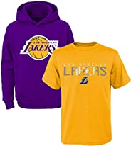 NBA Youth 8-20 Polyester Performance Primary Logo Hoodie & T-Shirt 2 Pack Combo