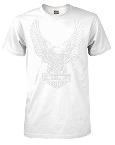 Swept Eagle - Harley-Davidson Men's T-Shirt, Up Swept Eagle Short Sleeve, White 30296657 (S)