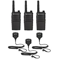 3 Pack Motorola RMU2040 Radios with Speaker Mics