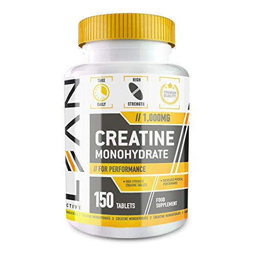 LEAN Nutrition Creatine Monohydrate Tablets - Creatine Capsules For High Intensity Workouts - 1000mg - 450 Tablets