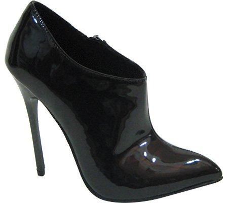 Highest Heel Women's Fierce-91 Bootie B011J4MNP0 12 B(M) US|Black Patent PU