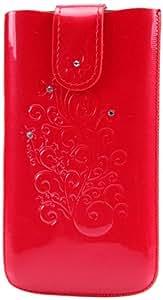 DC SO-I9500-90-4/5 SRC - Funda de piel para Samsung Galaxy S4 GT-i9500, color rojo y blanco