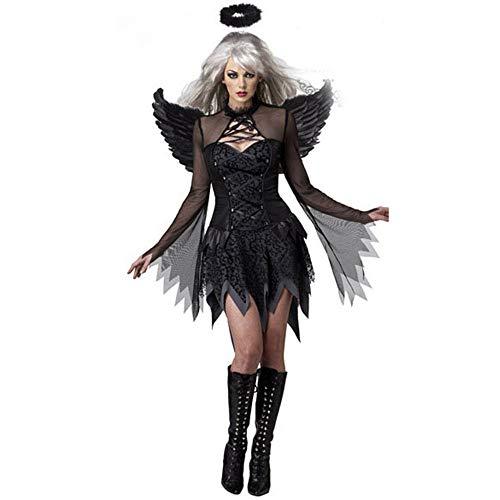 LOVELONG Lady Halloween Sexy Dark Angel Costume Game
