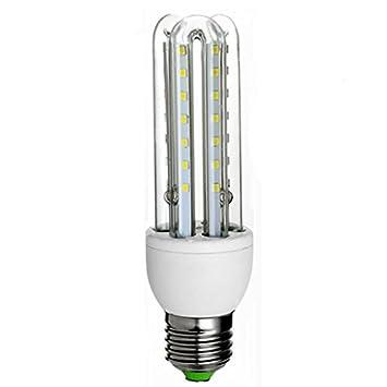 ASL Bombilla Led, E27 U Tipo Lámpara de ahorro de energía Tornillo de boca Maíz Lámpara Luz blanca Alta potencia ...