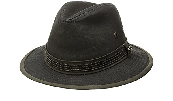 meet a25a2 c5ce9 Stetson Men s Cotton Canvas Safari Hat at Amazon Men s Clothing store