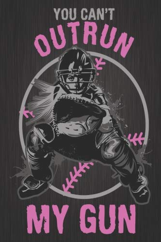 Composition Notebook: Softball Catcher - You Can't Outrun My Gun Softball Novelty Gifts Lined Journal, Wide-Ruled, 150 Pages (7.44 x 9.69)]()