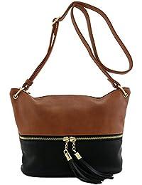 Tassel Accent Bucket Crossbody Bag