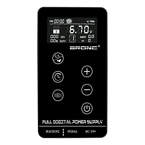 BRONC Professional Tattoo Power Supply Touch Screen Digital LCD for Tattoo Machines