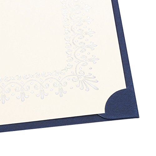 12-Pack Certificate Holder - Diploma Cover, Document Cover for Letter-Sized Award Certificates, Blue, 11.2 x 8.7 inches by Best Paper Greetings (Image #3)
