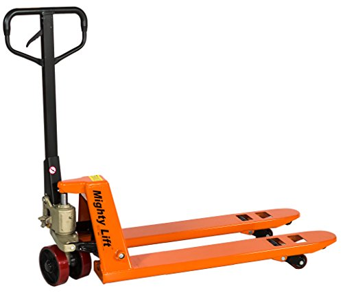 Mighty Lift ML2048 Narrow Specialty Pallet Jacks Trucks, 5,500 lb Capacity, 20'' x 48'' Fork by Mighty Lift