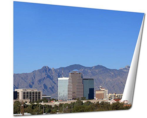 Ashley Giclee Fine Art Print, City Skyline Tucson Az, 16x20, - Skyline Tucson Az