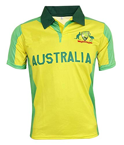 KD WC 19 Cricket Australia Jersey Supporter T Shirt Warner 31 Custom Print Name No Australia Uniform (Warner 31, 38) (Australia T Cricket Shirts)