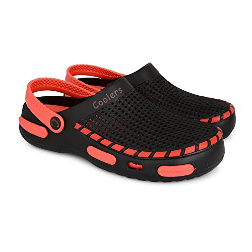 Mens Coolers Summer Boys Beach Garden Clogs Sports Pool Shoes Clogs Sandals Sizes UK 7-12 Black/Red wX7V0c