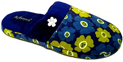 pantofole ROMA W228 da invernali donna BLU TOP mod ciabatte DE FONSECA OxnqwfEg