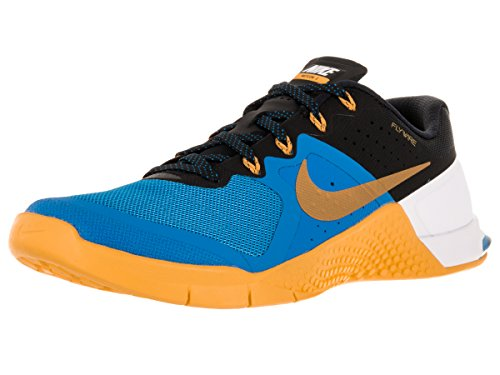 Nike Mens Metcon 2 Synthetic Running Shoes (9 D(M) US, Blue/Black/University Gold/White)