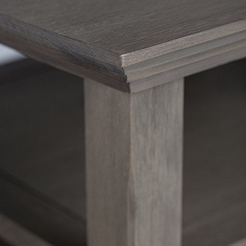 Simpli Home Acadian Solid Wood End Side Table, Farmhouse Grey by Simpli Home (Image #3)