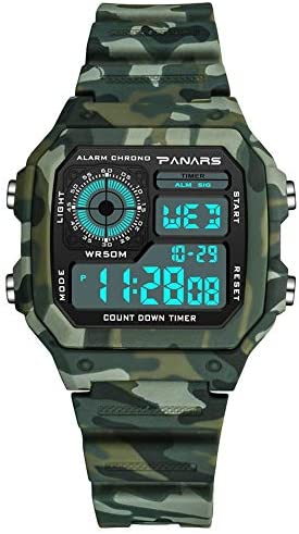 ATAとU- PANARS-電子時計スポーツファンカラーファッションライトと多目的学生時計