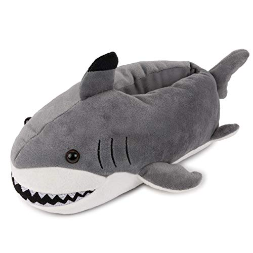 Lazy Paws Adult Sized Shark Slippers - (Size Medium Only) -