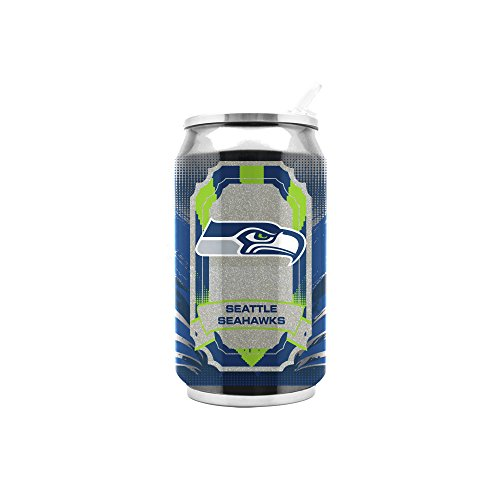 (NFL Seattle Seahawks 16oz Double Wall Stainless Steel Thermocan)