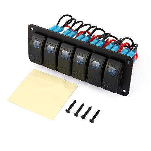 H HILABEE 3PCS LED Illuminated Round Rocker Switch On//Off 12V//220V Car Motorcycle Boat