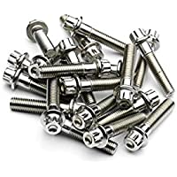 SRR Hardware Raw Three Piece Split Rim Assembly Bolts M7 x 32mm Forged Stainless Steel for BBS RS OZ Wheels (140)